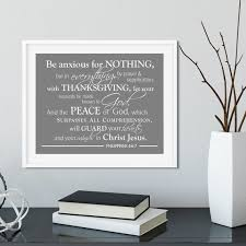 Scripture Wall Art Be Anxious For Nothing Philippians 4 6 7 Etsy