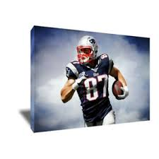 Rob Gronkowski New England Patriots Poster Photo Painting On Canvas Wall Art Ebay