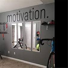 Amazon Com Motivation Wall Sticker Gym Fitness Wall Decals Sport Poster Workout Inspirational Art Decor Mural 8 X 50 3 Inches Kitchen Dining