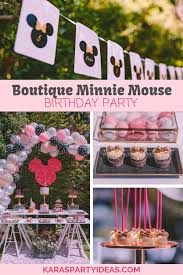 boutique minnie mouse birthday party