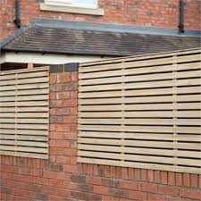 Forest Double Forest Slatted Fence Panel 3ft Pack Of 5 Homebase