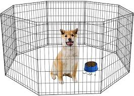 Amazon Com Puppy Playpen For Medium Dogs Dog Playpens For The Housedog Fence Outdoor Portable Foldable Dog Outdoor Playpen Metal Wire Pet Exercise Pen Fence Enclosure For Cats Dogs Rabbits 30 Inch