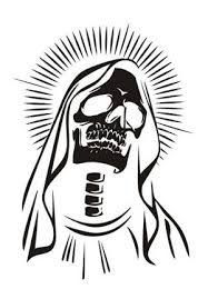 Mother Mary Xray Skull Decal Sticker