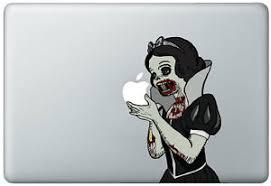 Zombie Snow White Holding Apple Macbook Pro Air 17 Inch Vinyl Decal Sticker Ebay