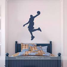 Basketball Wall Decal Vinyl Wall Lettering Boys Room Wall Etsy