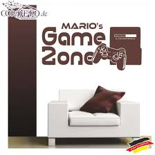 Wall Decal Custom Name Playstation Console Gamer Player Mural