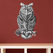 Great Horned Owl Wall Sticker Decal Ornate Bird Animal Art By Biowor