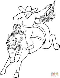 Cowboy Op Het Paard Kleurplaat Gratis Kleurplaten Printen