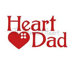 Vinyl Heart Dad Window Decal Window Decals Heart Disease Awareness Vinyl