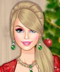 barbie christmas glam make up game games
