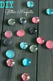 diy glitter magnets easy craft
