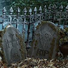 Halloween Graveyard Fence Scary Party Decoration Spooky Prop Outdoor 2 Pk Haunt 1835872178