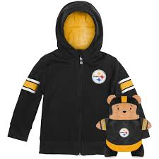 Pittsburgh Steelers Cubcoats Toddler 2 In 1 Transforming Full Zip Hoodie Soft Plushie Black Walmart Com Walmart Com