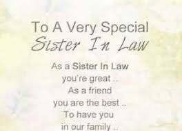 beautiful cute heart touching sister in law quotes