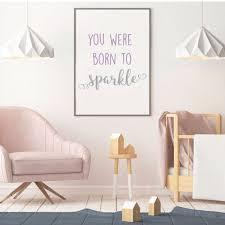 You Were Born To Sparkle Quote Girls Room Vinyl Decor Wall Decal Customvinyldecor Com