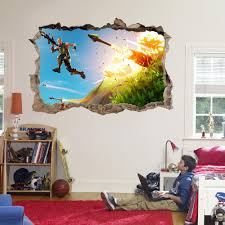 Fortnite 3d Smashed Broken Decal Wall Sticker J1304 Decalz Co