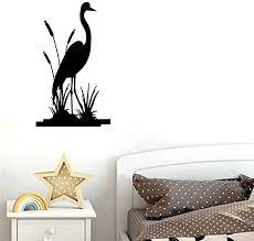 Amazon Com Bibitime Reed Grass Marsh Bird Wall Decal Nature Animal Silhouette Vinyl Sticker For Living Room Home Art Pvc Murals Nursery Bedroom Children Kids Room Decor Black 13 38 X 23 22 Home