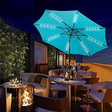 wonlink 10ft solar patio umbrella