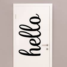 Oversized Hello Script Wall Quotes Decal Wallquotes Com