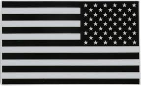 Amazon Com 247skins Black White American Usa Flag Vinyl Decal Sticker Left And Right Side 2 Pc Total Toys Games