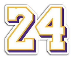 Lakers Kobe Bryant Sticker 24 Basketball Decals Nba In 2020 Basketball Decal Lakers Kobe Print Stickers