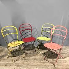 vintage folding metal garden chairs