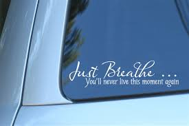 Just Breath You Ll Never Live This Moment Again Decal Size 8 X 2
