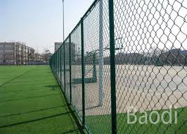 Vinyl Coated Chain Link Fence Fabric Roll Chain Wire Mesh Fencing With Long Service Life