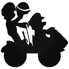 Mario Kart Mario Kart Silhouette Decal