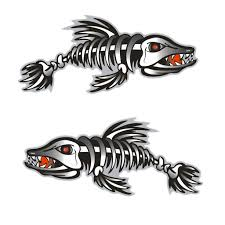 2020 Set Kayak Decals Fish Bones Skeleton Stickers For Kayak Canoe Fishing Boat Wall Car Accessories From Sharplace 7 7 Dhgate Com