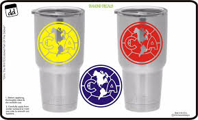 Ca Club America Soccer Logo Set Of 3 For Yeti Vinyl Decal Sticker Ps4 Xbox Diamonddecals Diamond Decals Vinyl Decal Stickers Vinyl Decals
