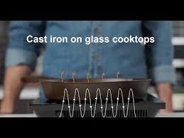 cast iron on a glass cooktop