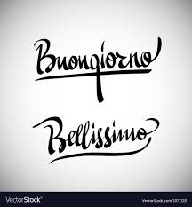 Buongiorno Greetings hand lettering set Royalty Free Vector