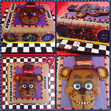 A Chocolate Five Nights At Freddy S Cake Fnaf Fiesta Cumpleanos