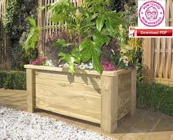 wood planter plan raised planter plan