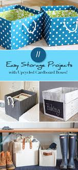 projects with up cycled cardboard boxes
