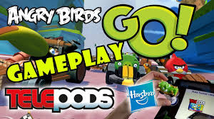 Let's Play Angry Birds Go: TELEpods Gameplay (Pig Rock Raceway ...