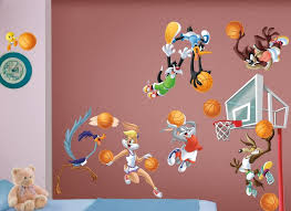 Amazon Com Looney Tunes Large Basketball Wall Decal Set Home Kitchen