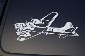 Amazon Com B 17 Bomber Flying Fortress Vinyl Sticker Decal V218 War Bird Plane Military 8 X 4 White Arts Crafts Sewing