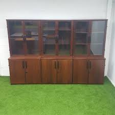 vintage glass display cabinets second