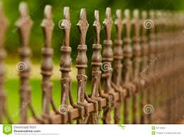 Iron Fence Finials Stock Photo Image Of Finial Fence 36179068