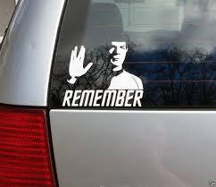 Remember Leonard Nimoy Spock Cut Vinyl Window Sticker Star Etsy