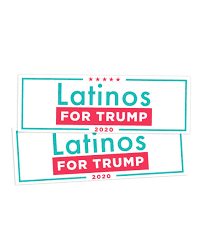 Latinos For Trump Bumper Sticker Set Of 2 Trump Make America Great Again Committee