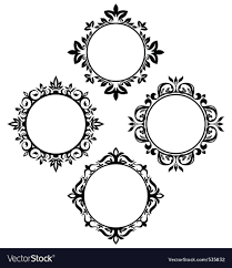 circle frames royalty free vector image