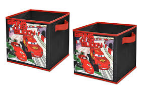 Disney Cars 2 Storage Cubes Set Of 2 10 Inch Toysplus