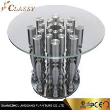 china luxury round glass coffee table
