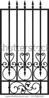 Forged Fence Gothic Door Vector Design Stock Vector Royalty Free 1557662009