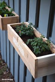How To Make A Hanging Fence Garden Thrift Diving Blog