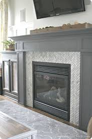tiling a fireplace surround with