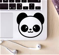 Cute Panda Laptop Vinyl Decal Partial Sticker For Removable Stickers Headphone Laptop Cover Sticker For Xiaomi Hp Dell Asus Laptop Skins Aliexpress